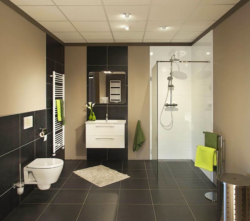 Zwarte keuken tegels for Badkamer tegel metro